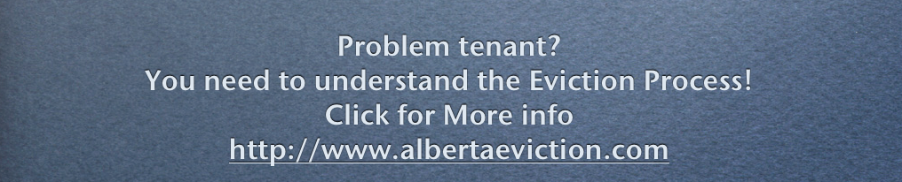 Help & Information About the Eviction Process in Alberta For Landlords